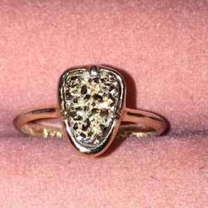 Kendra Scott Haylee Ring in Gold Drusy, size 5